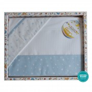 Stitchable Baby Bed Sheets Star - Light Blue