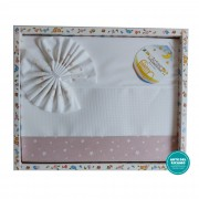 Stitchable Baby Sheets Star - Pink