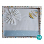 Stitchable Baby Sheets Star - Light Blue