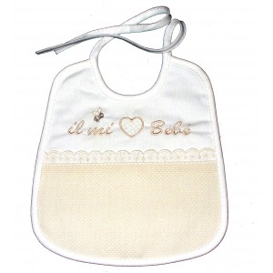 Baby Bib - Cream - My Baby