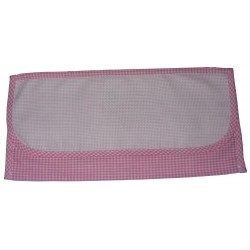 Ready to Stitch Cutlery Holder Bag - Pink Squares