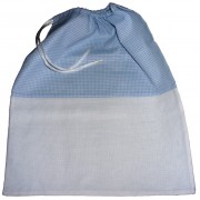 Kindergarden Bag - Ready to Stitch - Light Blue Squares