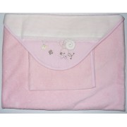 Bath Baby Cape and Wash Mitt - My Baby - Pink
