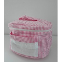 Baby Beauty Case for Baby to Cross Stitch - Pink