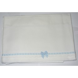 Baby Bed Sheet to Cross Stitch - Vichy Light Blue