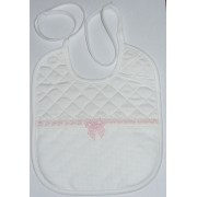 Soft Bib for your Baby - Vichy Line - Pink