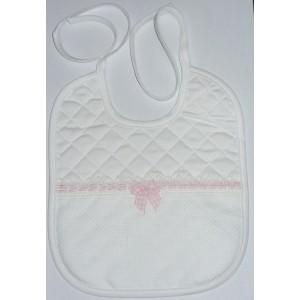 Babero para Bebés - Linea Vichy - Rosa