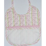Soft Bib for your Baby - Pink and Green Lines