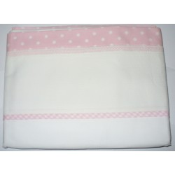 Bed Sheet to Cross Stitch - Pink Dots