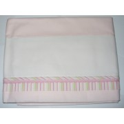 Bed Sheet to Cross Stitch - Pink and Green Lines