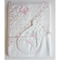 Albornoz de Rizo para Bebè - Rosa - Osito