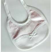 Pink Newborn Bib to Cross Stitch - Stars