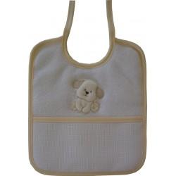 Babero de Rizo para Bebé con Perrito - Amarillo