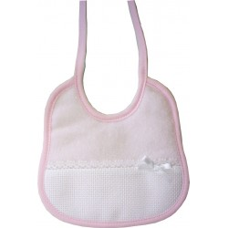 Elegant Terry Newborn Bib Ready to Stitch - Pink