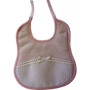 Elegant Terry Baby Bib Ready to Stitch - Pink