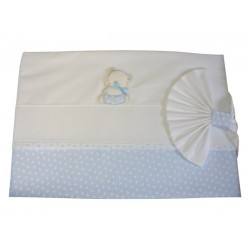 Baby Bed Sheet- Light Blue - My First Layette