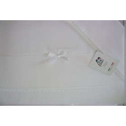 Baby Bed Sheet White with Aida Band