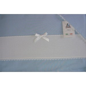 Baby Bed Sheet Light Blue with Aida Band