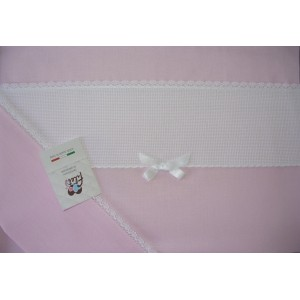 Baby Bed Sheet Pink with Aida Band