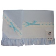 Baby Bed Sheet - Light Blue - Piquet