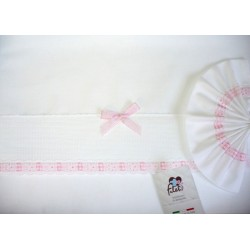 Baby Bed Sheet - Pink - Vichy