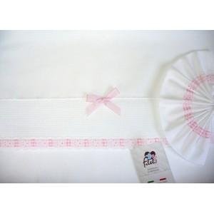 Baby Bed Sheet - Pink - Vichy