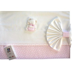 Baby Bed Sheet- Pink - My First Layette