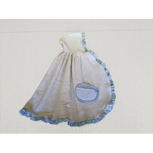 Baby Terry Cape - Light Blue - My First Linen