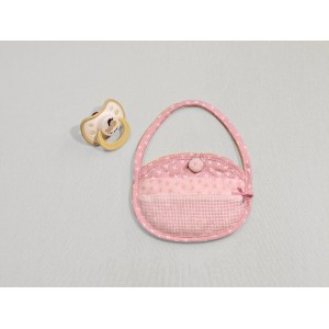 Pink Soft Baby Pacifier Bag