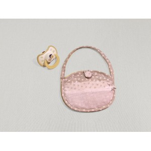 Cream Soft Baby Pacifier Bag