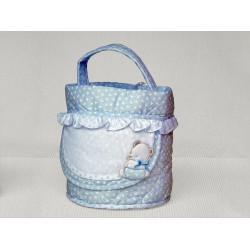 Beauty Case Ready to Stitch - Light Blue - My First Linen