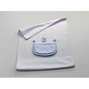 Baby Pile Blanket Light Blue - My First Linen