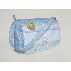 Nursery Bag Ready to Stitch - Light Blue - My First Linen