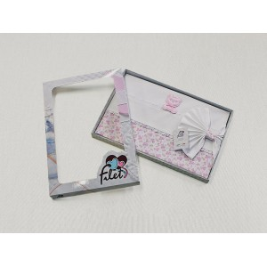 Baby Bed Sheet- Pink - Teddy Bear