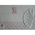 Baby Bed Sheet- Pink - Teddy Bear