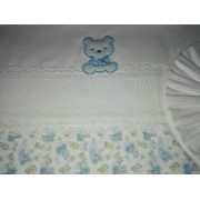 Sabana para Bebè - Celeste - Teddy Bear