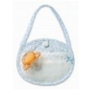 Light Blue Soft Baby Pacifier Bag