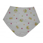 Bandana Baby Bib - Flowers and Bees - Color Pink