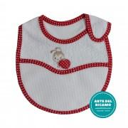 Baby Bib with Strap Closure - Ladybug Walking