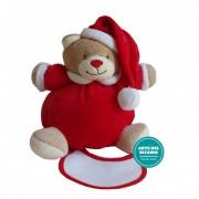 Christmas Teddy Bear with Baby Bib to Cross Stitch