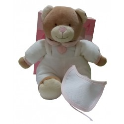 Teddy Bear to Cross Stitch - Pink and White