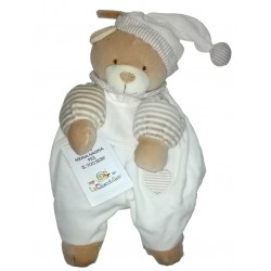 Teddy Bear Pajamas Case - Cream