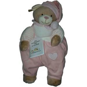 Teddy Bear Pajamas Case - Pink