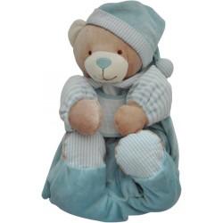 Teddy Bear Pajamas Case - Light Blue