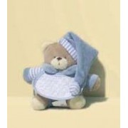 Teddy Bear with Stitichable Bib - Light Blue