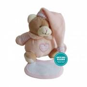 Teddy Bear with Stitichable Bib - Pink