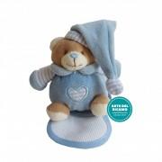 Teddy Bear with Stitichable Bib - Light Blue