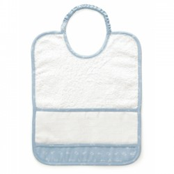 DMC - Baby Bib Ready to Stitch - Light Blue - Art. RS2126