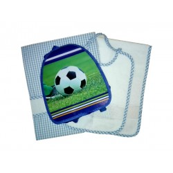 Kindergarten Backpack and Stitchable Linen -  Light Blue