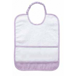 DMC - Baby Bib Ready to Stitch - Lilac - Art. RS2126